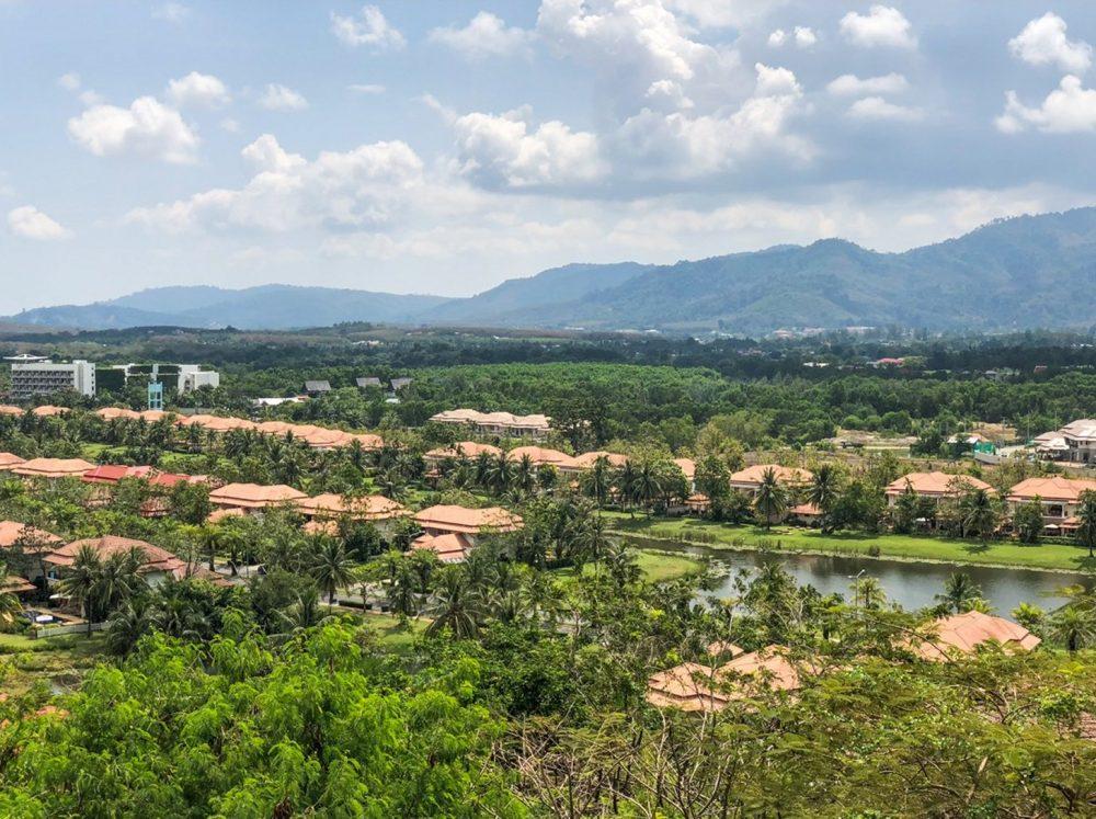 Uitzicht op het landschap van Phuket