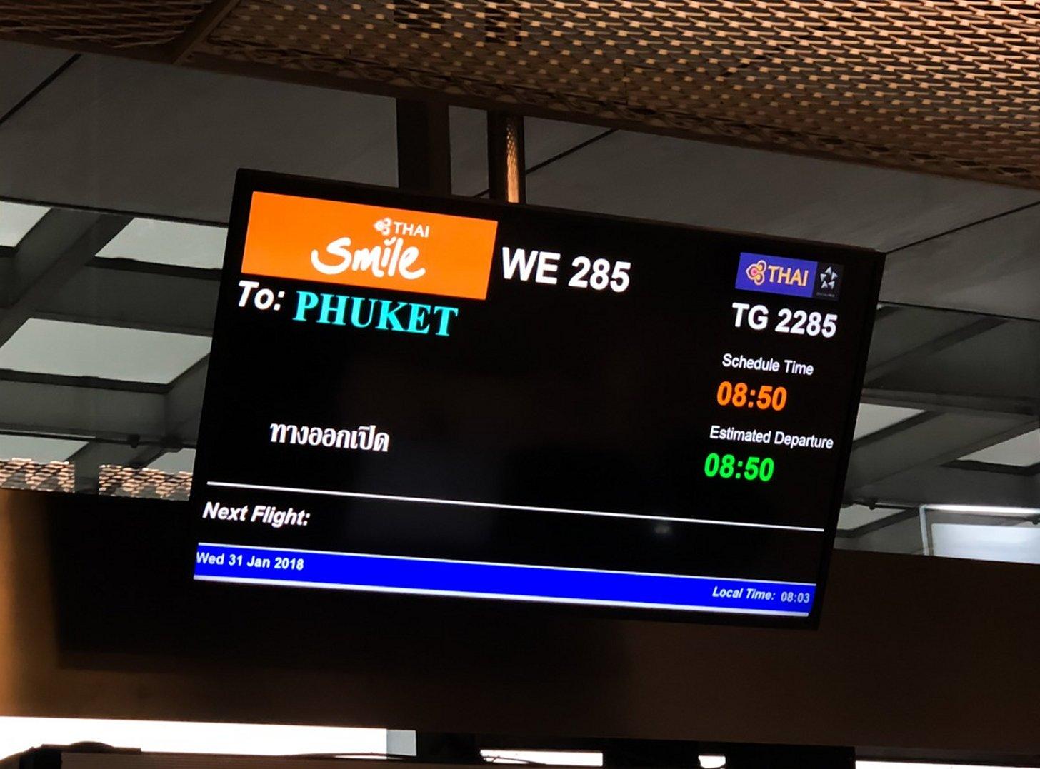 Vliegen naar Phuket